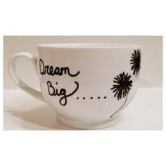 Coffee Mug Dream Big Mug by PaintUsCrafty on Etsy, $15.00 #handpaintedmugs #giftideas #dandelionmug