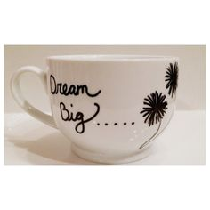 Coffee Mug Dream Big Mug by PaintUsCrafty on Etsy, $15.00 #handpaintedmugs #giftideas #dandelionmug