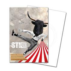 Gruß- und Postkarte: Stier