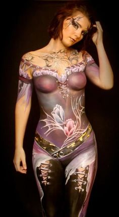Art by Annie Reynolds face and body painting class in the USA Human Art, Woman Painting, Painting Art, Skin Art, Face Art, Nice Body, Sexy Body, Face And Body, Body Art Tattoos