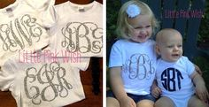 Adorable Monogrammed Onesies and Shirts! | Very Jane