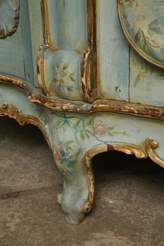 19th Century Venetian Painted Armoire   From a unique collection of antique and modern wardrobes and armoires at http://www.1stdibs.com/furniture/storage-case-pieces/wardrobes-armoires/