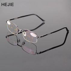 5b71b600db8 Classic Men Alloy Multifocal Progressive Reading Glasses Rectangle Half Rim  Coating Lens Comfortabl Diopter+1.0