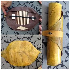 These unique art wraps are embossed, hand painted and gorgeously detailed to give the texture and beauty of a large leaf. Holding up to 10 pencils