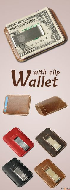 Found This Perfect Wallet with Money Clip. Recommend for you. 53% OFF. 4 Colors Optional.