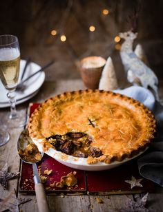 Feast your eyes on this steak and Stilton pie recipe. This cheesy pie makes a great indulgent pastry dish for the Christmas season