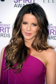 My goal is to have hair that looks like this! Kate Beckinsale rocks. Period.