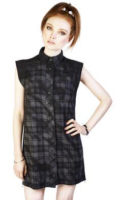 Lupine Shirt dress #disturbiaclothing disturbia tie dye flannel shirt dress chest embroidery alternative grunge