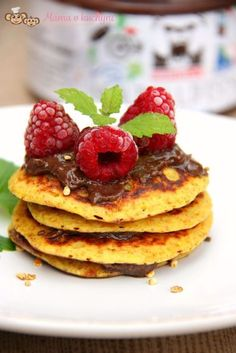 POMERANČOVÉ LÍVANCE BEZ MOUKY Griddle Cakes, Pancakes, Food And Drink, Gluten Free, Healthy Recipes, Healthy Food, Cookies, Breakfast, Sweet