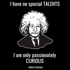 I'm not sure what type Einstein was, but yes on the curiosity. :)