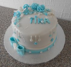 a cake for tina's birthday….