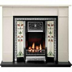 Gallery Brompton Limestone Fireplace with Northmoor Cast Iron Tiled Insert