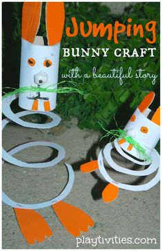 Jumping Bunny Craft for #Children (pinned by Super Simple Songs) #educational #resources