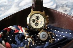 Brooks Brothers watch and vintage cuff links.