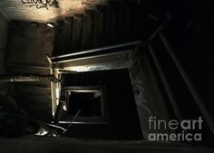 Into the Abyss - photograph by James Aiken Into the Abyss - Fine Art Prints and Posters for Sale james-aiken.artistwebsites.com #jamesaiken #abandonedplaces #stairway #abyss