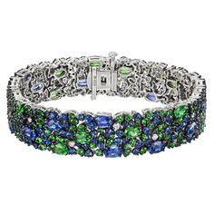 Robert Procop Sapphire, Tsavorite & Diamond Bracelet | Betteridge