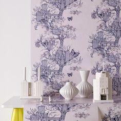 Graham & Brown Urban Tree Wallpaper designed by Louise Tiler