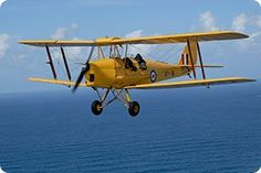 Tiger Moth Flight in Byron Bay - fly over the lighthouse
