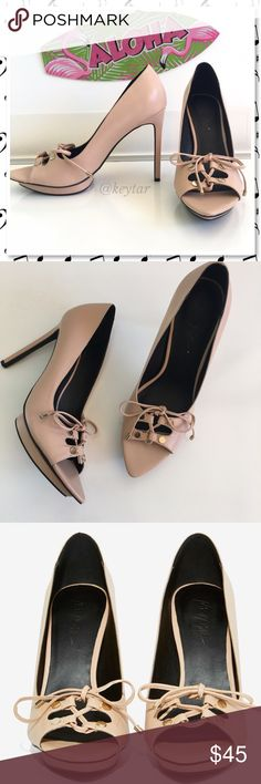 Selling this NWOT Nasty Gal To Tie For Lace Up Heel Nude Blush on Poshmark! My username is: keytar. #shopmycloset #poshmark #fashion #shopping #style #forsale #Nasty Gal #Shoes