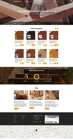 Shopify Template , Woodwork