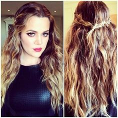 Pleasing Khloe Kardashian Braided Updo Hair Amp Make Up Beauties Hairstyles For Women Draintrainus