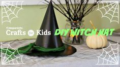 Turn an ordinary birthday party hat and a cereal box into a witch hat in just a few steps! This idea is a great accessory for any witch costume and the perfe...