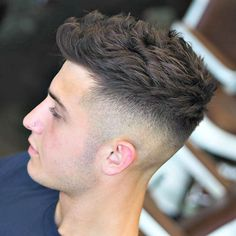 High Fade with Textured Hair on Top