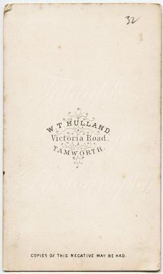 CDV Victorian Lady Profile Vignette Portrait W T Hulland | Etsy