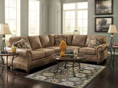 VALENTINE-Traditional Microfiber Sofa Couch Sectional Set Living Room Furniture #ad