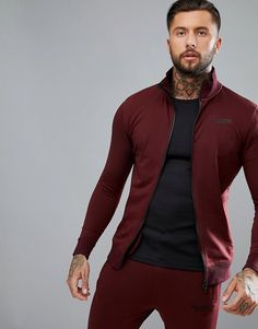 Muscle Monkey Track Jacket In Burgundy, Men's Track Jacket, Track suit, jogging jacket, gym jacket, soccer track jacket, futsal Track Jacket, breathable, moisture wicking, athletic wear, gym wear, men's fitness, sports wear, health wear, weight loss wear, activewear, #affiliate, #ad