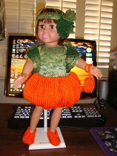 Ladyfingers - AG doll - Pumpkin Costume