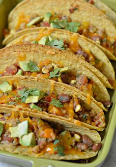 Baked Quinoa and Veggie Tacos | mountainmamacooks.com #TacoTuesday