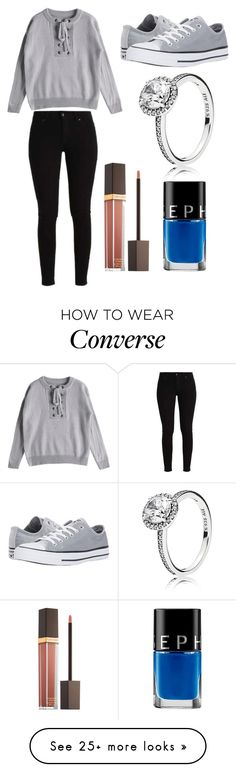 """Sans titre #7705"" by yldr-merve on Polyvore featuring Converse, Pandora, Tom Ford and Sephora Collection"