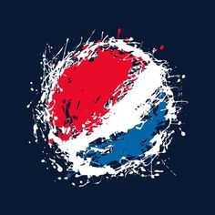 Shop official Pepsi Paint Splash Logo Men's T-Shirt. Pepsi Logo, Graffiti Styles, Paint Splash, Make Ready, Dr Pepper, Coke, Coca Cola, Digital Prints, Vsco