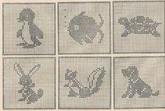 Animal Crib Spread in Filet Crochet PATTERN taken by BlondiesSpot