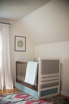 Crib from @walmart featuring DIY Custom Upholstered End Panel - gorgeous!