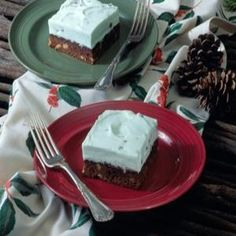 Brownie Mint Sundae Squares