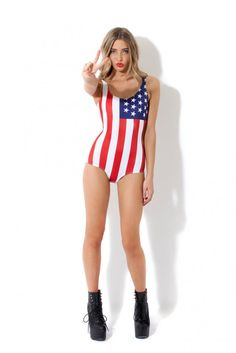 World Flags Usa Swimsuit by blackmilkclothing. For Alex