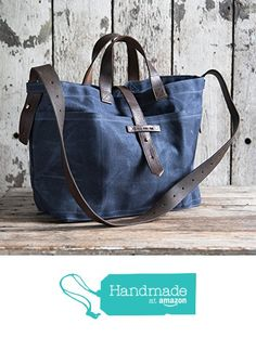 Waxed Canvas Tote in Rook from Peg + Awl