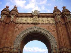 Arc de Triomf in the Parc de la Ciutadella, Barcelona