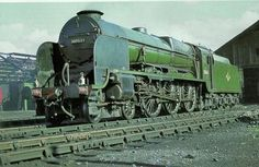 'Lord Nelson' 4-6-0 30863 'Lord Rodney' at Eastleigh in the 1960's