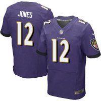 #12 Jacoby Jones Baltimore Ravens Elite Jersey