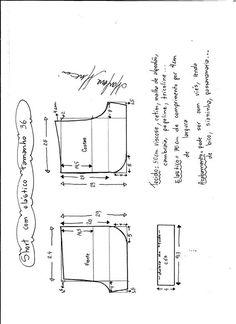 50983c5780 Esquema de modelagem de short com elástico tamanho 36.