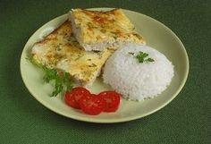 Tejfölös tepsis hal Fish Recipes, Healthy Recipes, Healthy Food, Hungarian Recipes, Paleo, Food And Drink, Eggs, Favorite Recipes, Cheese