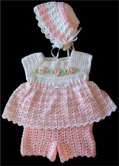 Conjunto de bebé de Jamie patrón de ganchillo por Maggiescrochet