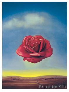 Salvador Dalí - Meditative Rose 1958