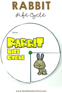 This pack contains a huge range of activities on the rabbit life cycle and is especially fun in the lead up to Easter. Suitable for K to Grade 2 this pack provides many differentiated activities to discuss how rabbits develop. #techteacherpto3 #rabbit #lifecycle #science #activities #kids