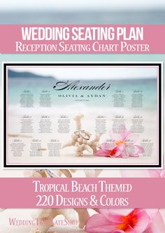 Wedding Reception Seating Chart Poster, Ideas, & Plans.