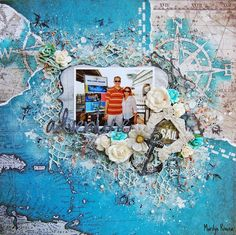 Marilyn Rivera- Destination Unknown collection by 7 Dots Studio.  Prima Marketing: flowers, art basics, art ingredients.