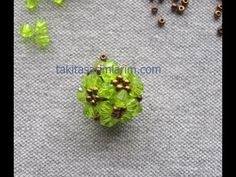 Beaded bead ~ Crystals and size ~ single needle ~ Seed Bead Tutorials